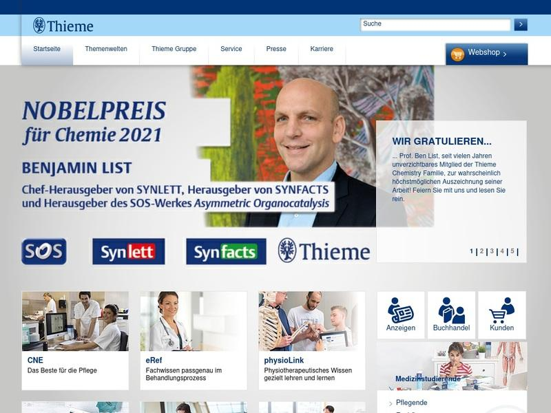 Screenshot von http://www.thieme.de/